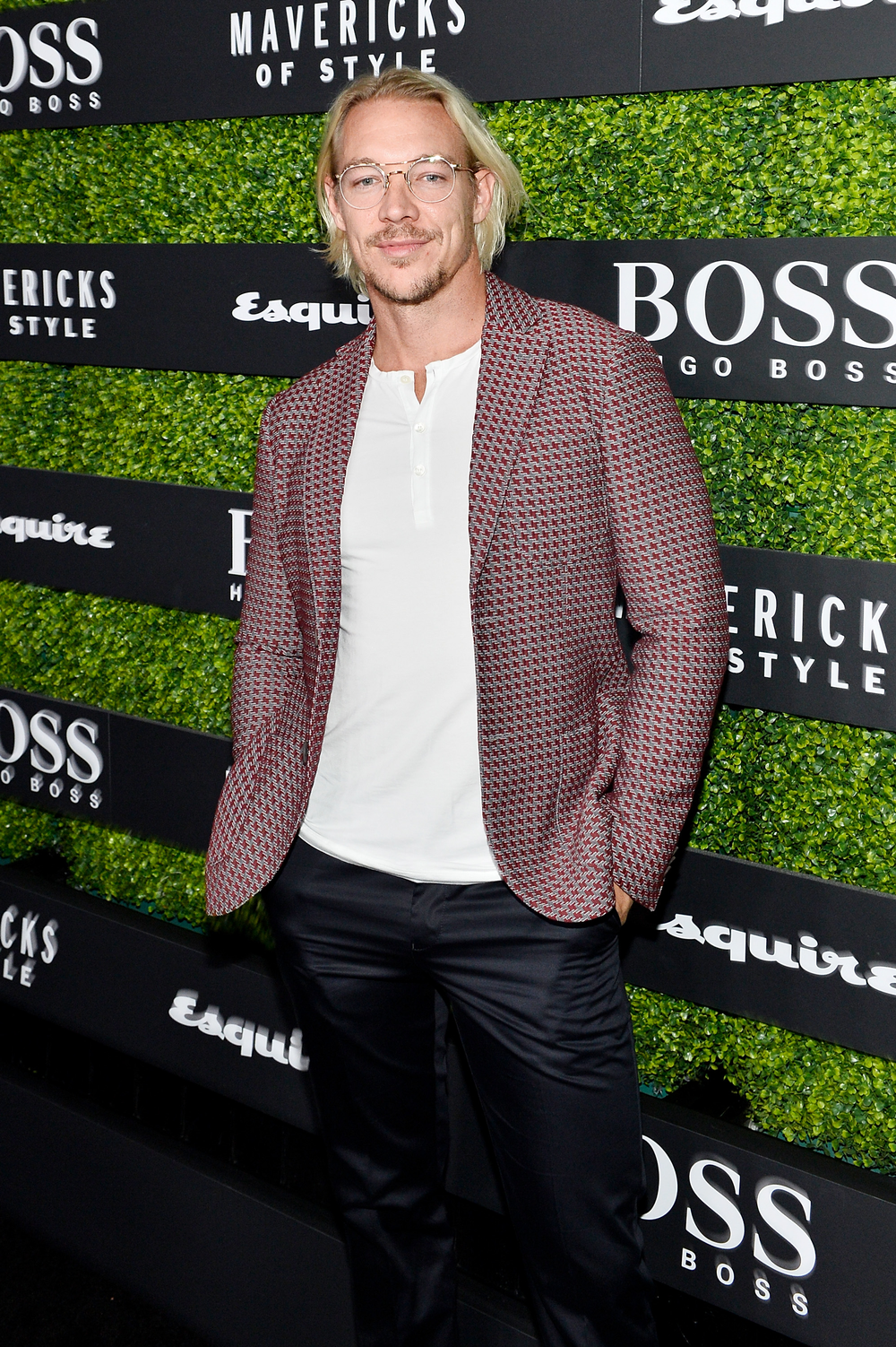 Let's hear it for the boys! DJ Diplo first showed off his lighter look at the Billboard Music Awards in May.