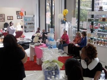 Maisie Dunbar Spa Lounge Works for a Cure