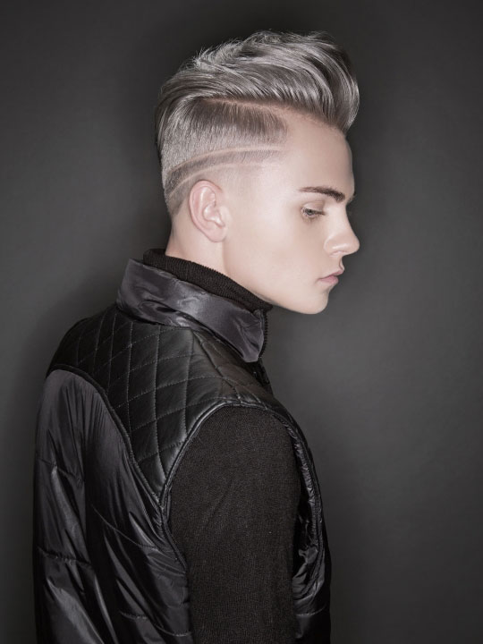 Dustin Villa of Aveda Institute Tucson was named the 2015 NAHA Student Hairstylist of the Year. || Makeup: Anne Skubis || Fashion styling: Vanessa Di Palma Wright (photo credit: Keith Bryce) Keith Bryce