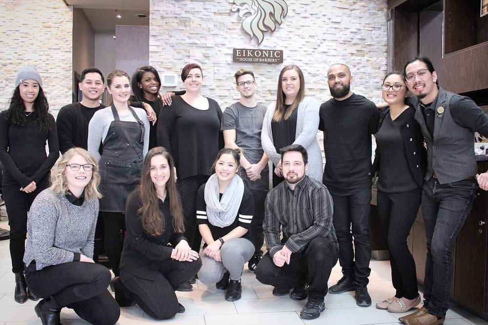 The team from Eikonic  House of Barbers in Brampton, Ontario.