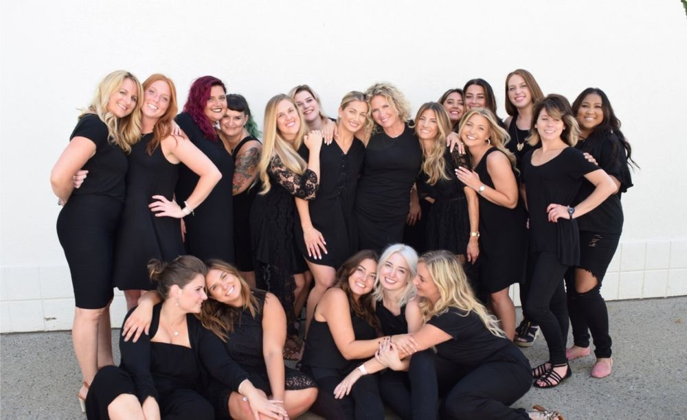 The team from Elan Hair Studio in Sea Girt, New Jersey.