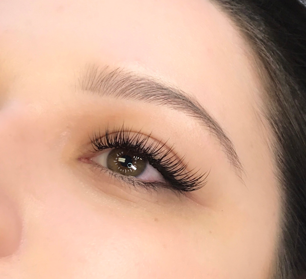 """<p><strong>""""This client wanted a fresh, gorgeous look for a 'Gal-entine's"""" night,"""" says Alison. """"I followed the natural almond shape of her eyes, dramatizing them by keeping the inner corners short and concentrating the length at the outer third of the lash line. I used a classic lash technique—C curls in a mix of 6mm to 14mm and .2 and .25."""" </strong></p>"""