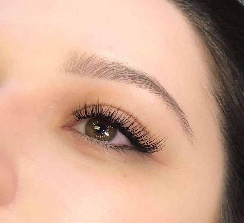 "<p><strong>""This client wanted a fresh, gorgeous look for a 'Gal-entine's"" night,"" says Alison. ""I followed the natural almond shape of her eyes, dramatizing them by keeping the inner corners short and concentrating the length at the outer third of the lash line. I used a classic lash technique—C curls in a mix of 6mm to 14mm and .2 and .25."" </strong></p>"