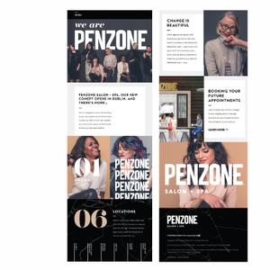 Penzone Salons & Spas Email Newsletter