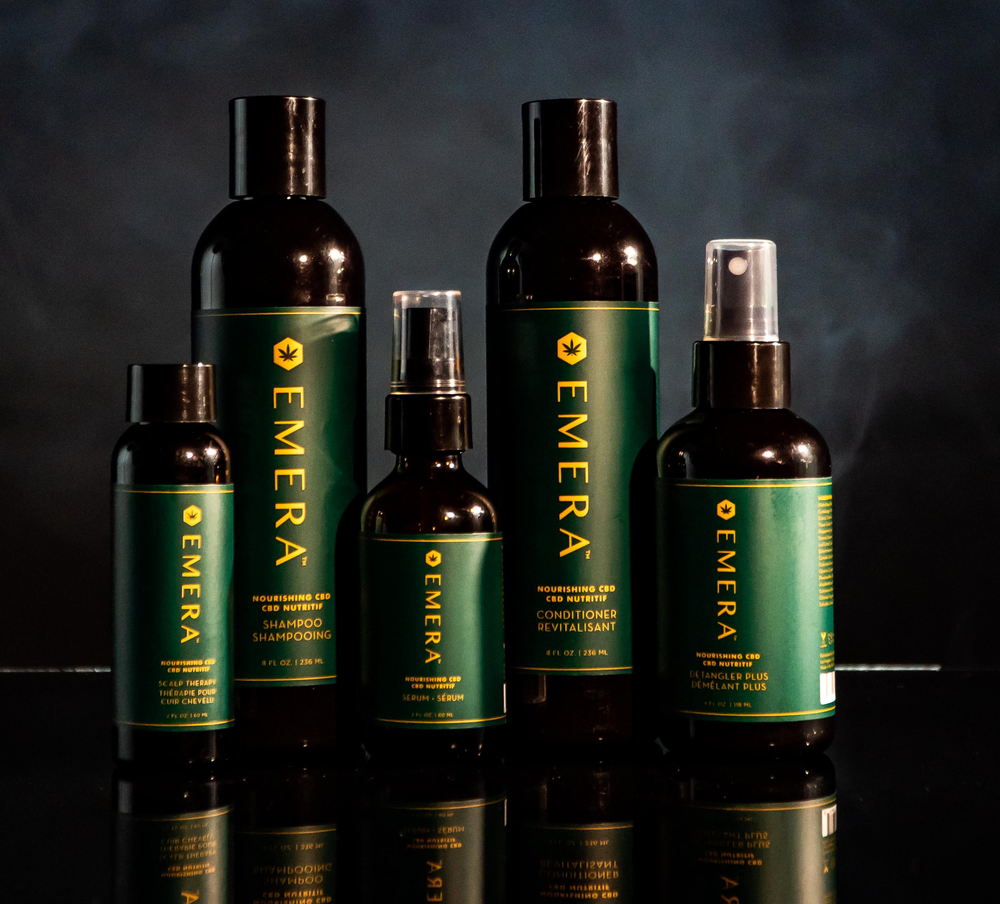 <em>The first hair care line containing CBD hemp oil works synergistically with the body's endocannabinoid system to deliver maximum moisture retention, improve the appearance of fuller, thicker hair, promote healthy hair and scalp, and provide an extra layer of protection against every day wear-and-tear</em>