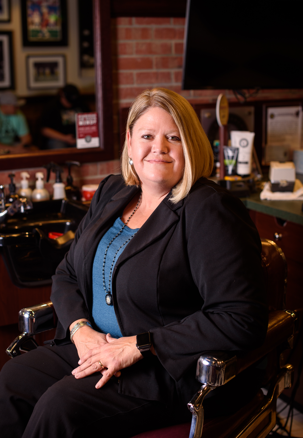 Emily Brown, director of operations, V's Barbershops.