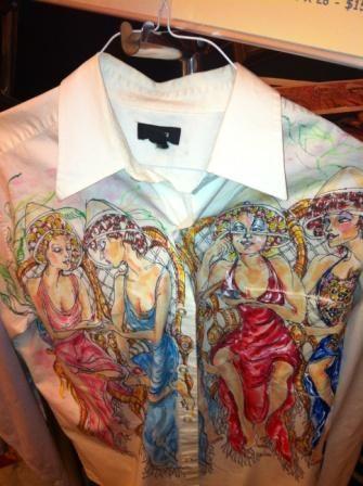 Hand painted shirt by Barbara Black www.b4barbara.com