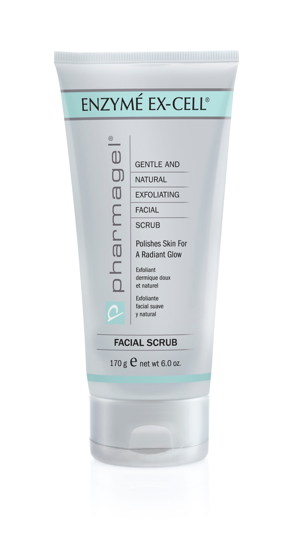 ENZYMÉ EXCELL  An extremely gentle exfoliating dermal scrub with all botanical polishing grains. It sloughs off dry, dulling skin cells and leaves skin with a finer, smoother texture. ENZYMÉ EX-CELL contains the anti-aging enzymes of the papaya plant. These enzymes encourage natural exfoliation and increase cell renewal. Skin has refined pores and improved color and tone. Men may use ENZYMÉ EX-CELL before shaving for a smoother, closer shave.