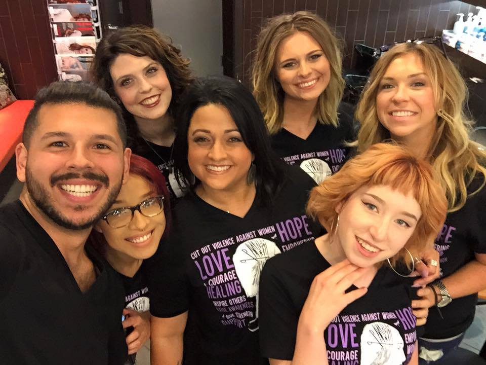 The team from Eric Fisher Salon in Wichita, Kansas.