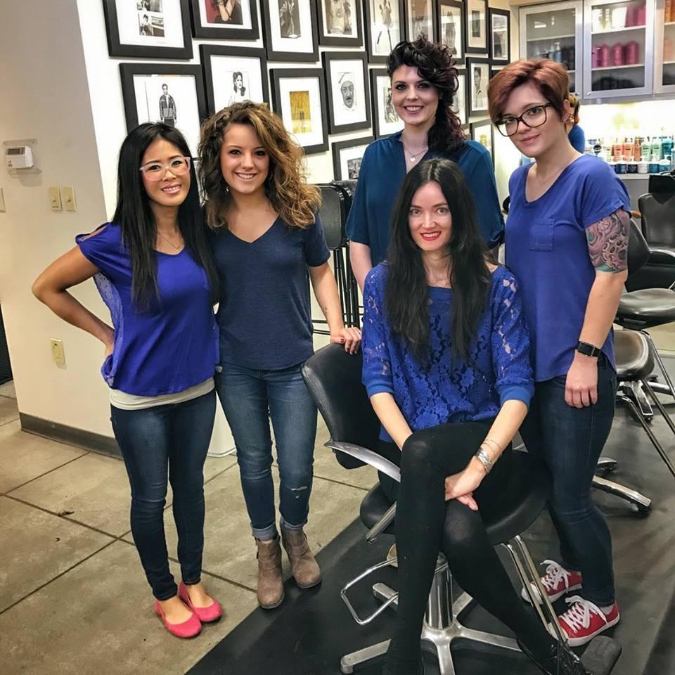Team members from Eric Fisher Salon in Wichita, KS.