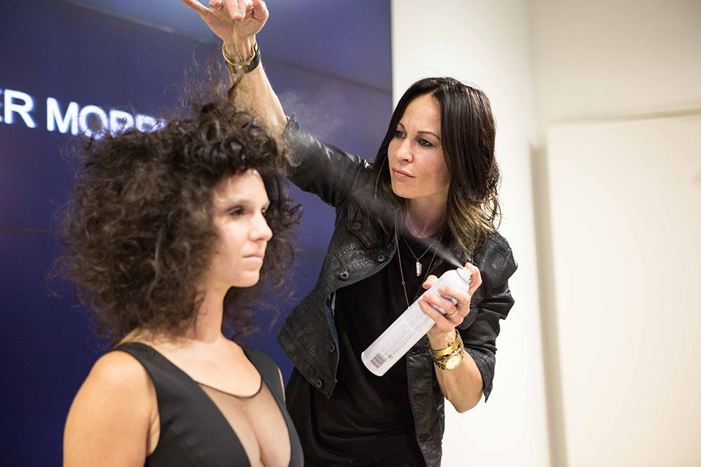 Sebastian Professional International Core Team Member Marylle Koken styles her model using Sebastian Professional's Metamorphik product collection.
