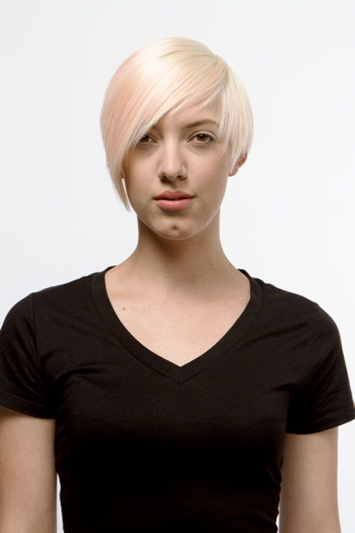 1. Hair is prelightened with Dual-Purpose Lightener mixed with 20-volume developer. Create a horseshoe section from the temple area and high crown.