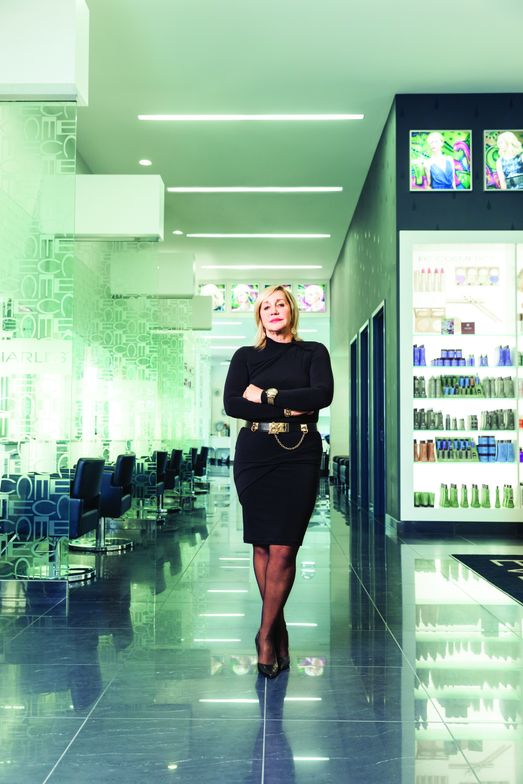 Beauty entreprenuer Eveline Charles, photographed in one of her signature salons, is pioneering a franchise concept with Canada's biggest retailer Hudson's Bay.