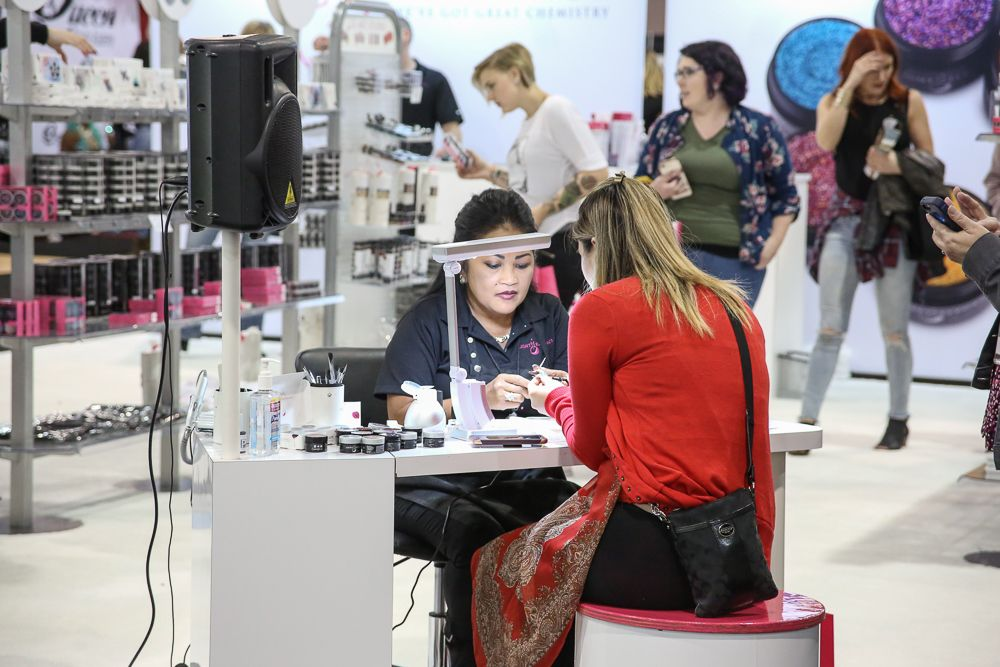 Nail art and education was a main draw at Premiere Philadelphia.