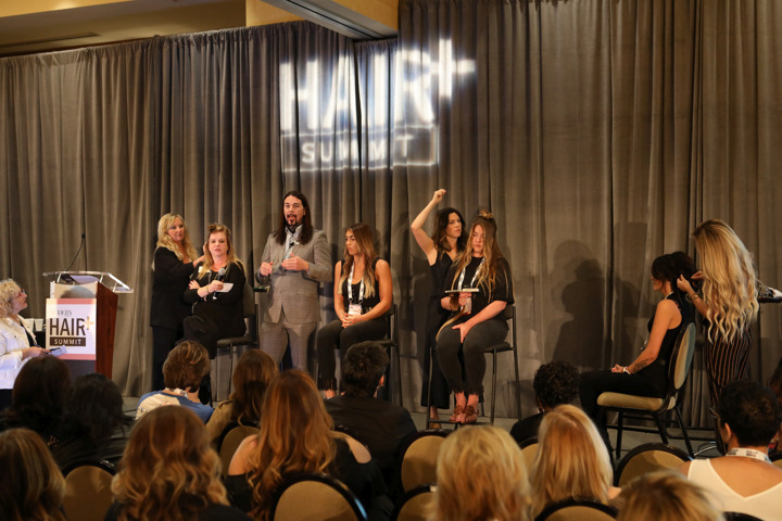 During the Extensions Experience, extensions experts Cindy Reynolds, Brent Hardgrave, Lindsay Guzman and Saretta Bowerman demonstrate different application methods.