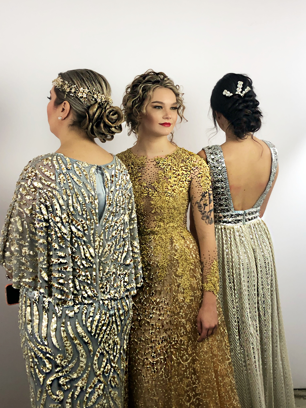 Three of the final looks