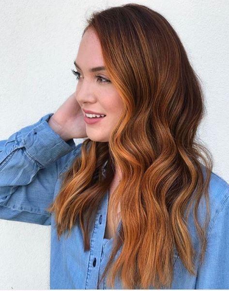 Fall hair color goals! @karlavarleyhairartist