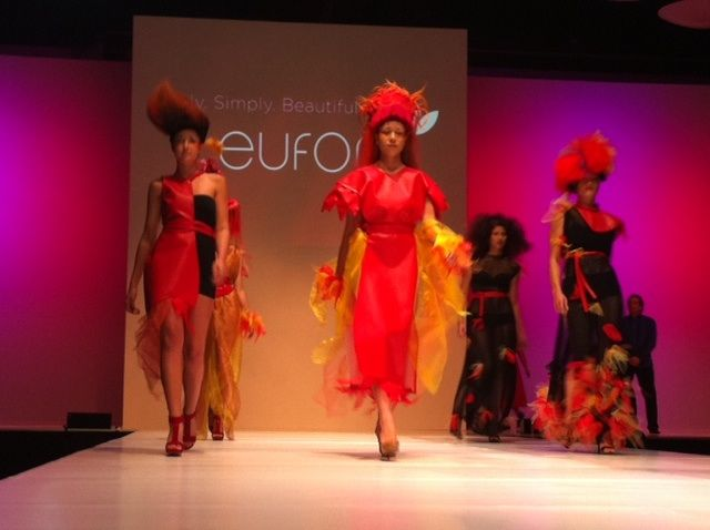 Eufora models representing Fire take the stage.