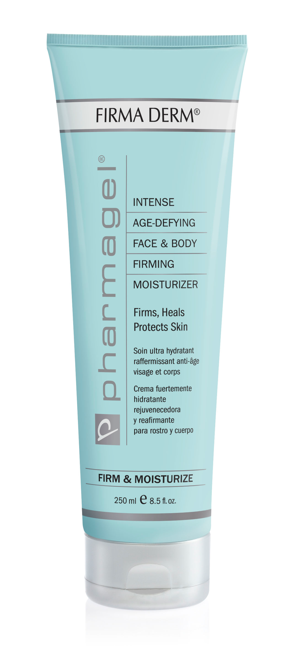 FIRMA DERM  A fast-acting, anti-aging, firming hand and all over body moisturizer that repairs and reverses skin damage. FIRMA DERM contains 750,000 i.u. of Retinol-A, plus Vitamins C and E and Gingko Biloba Extract for fast penetration and intense firming benefits. The high concentration of antioxidants in FIRMA DERM improves elasticity and shields tissues from destructive free radicals. These free radicals interfere with the skin's normal growth patterns, causing wrinkling and premature aging. FIRMA DERM gives skin a younger, smoother, firmer look.