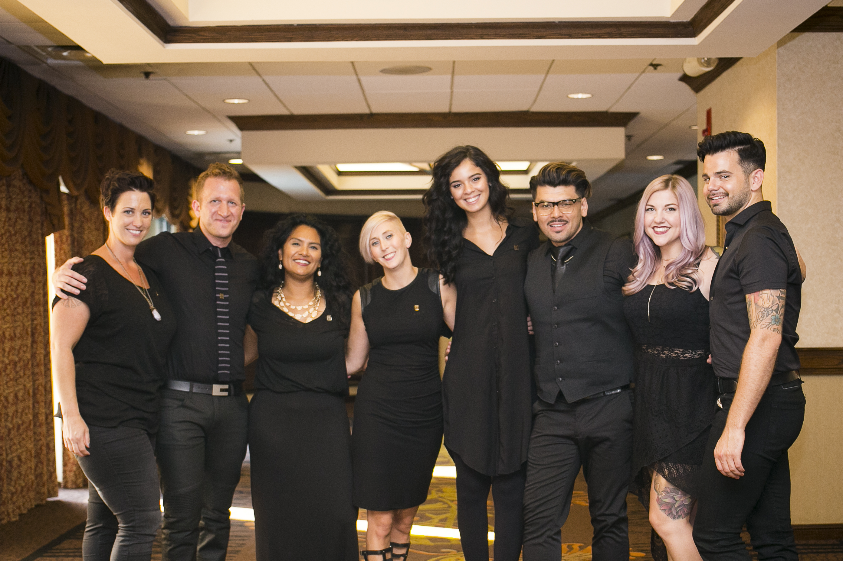Left to right: Lindsey Misale, David Young (brand ambassador), Raquel Deanda-Wyatt, Kelsey Higginbotham,
