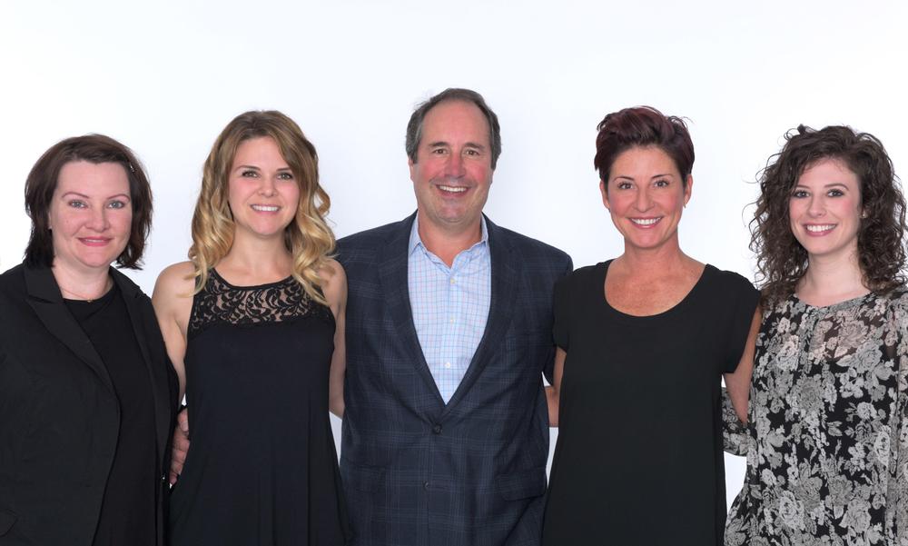 The Gene Juarez marketing team, from left: Digital marketing Director Sheri Rearick, Marketing Director Maryline Desjardins, President Scott Missad, Creativbe Director Amanda Smith, and Marketing Specialist Helene Cohn.