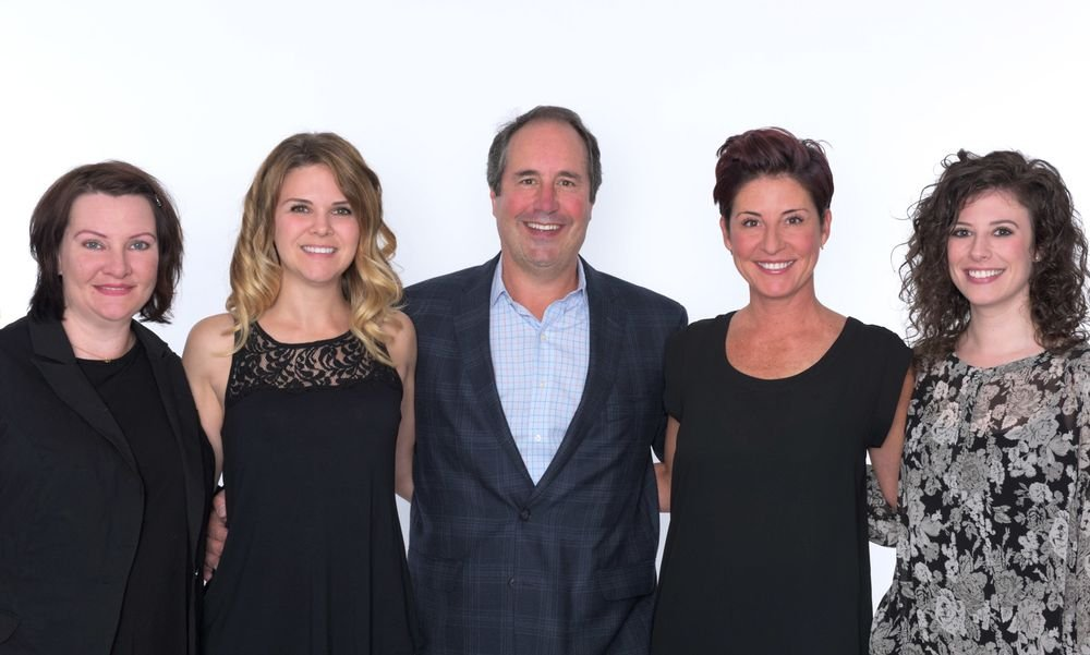 The Gene Juarez marketing team, from left: Digital marketing Director Sheri Rearick, Marketing Director Maryline Desjardins, President Scott Missad, Creativbe Director Amanda Smith, and Marketing Specialist Helene Cohn.