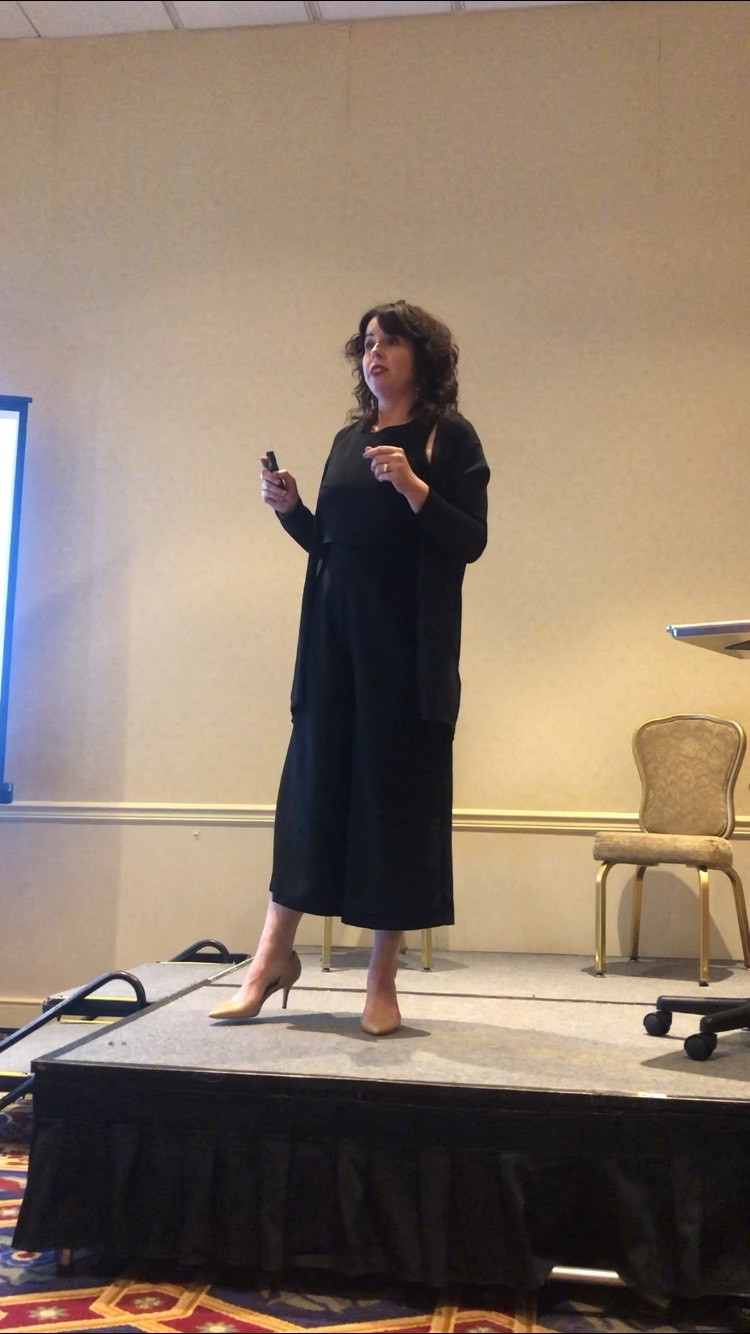 <p>Angela Cattaneo, founder of Beyond the Ponytail, speaks on goal setting and growing your business.</p>