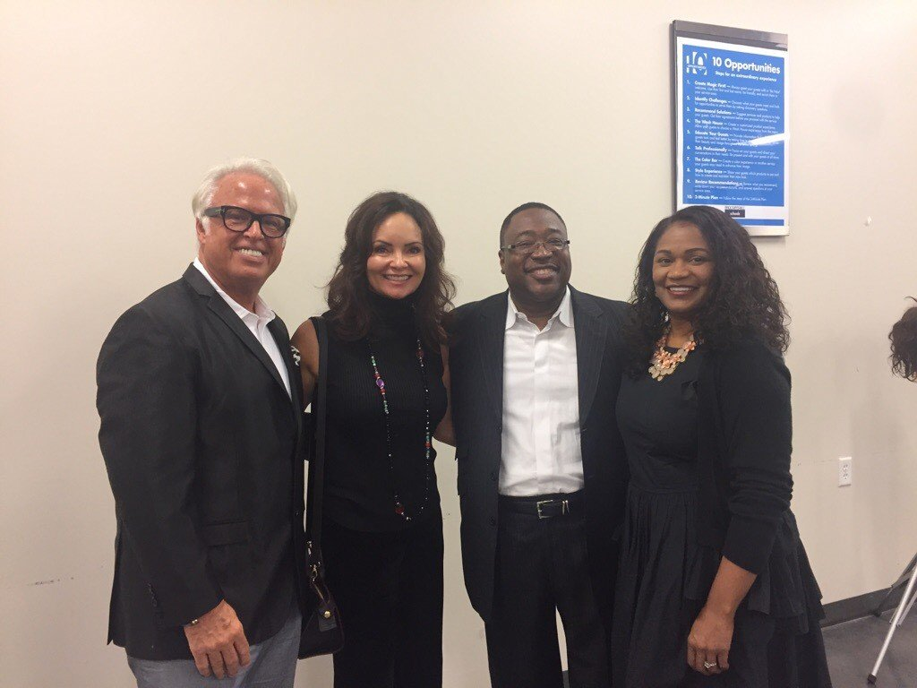 Celebrating a new partnership and the future of education in the beauty industry: (left to right) Frank Gambuzza, Belinda Gambuzza, Dale Jones and Kimberlyn Jones