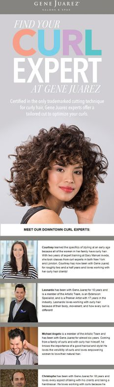 The marketing team also developed an email newsletter that introduecd clients to individual curly experts.