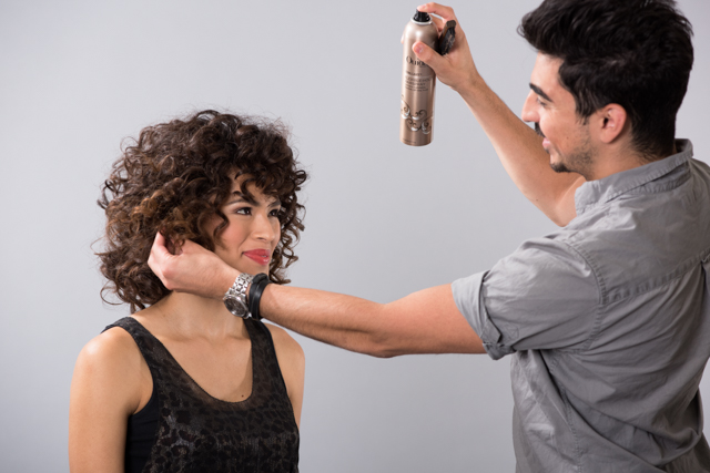 The Gene Juarez marketing team started the campaign by organizing a curly hair photo shoot to develop images for the campaign.