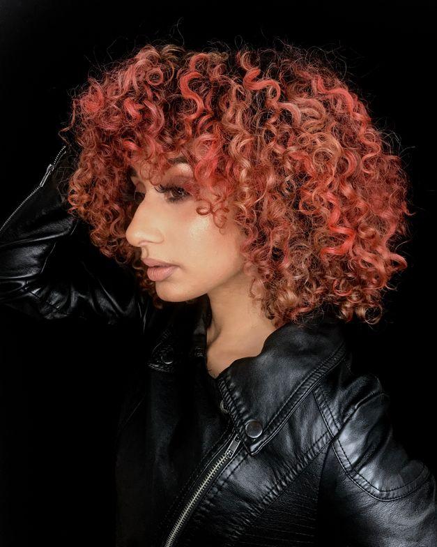 Marie Negrón, @Glamhairbymarie, Best Curly Color