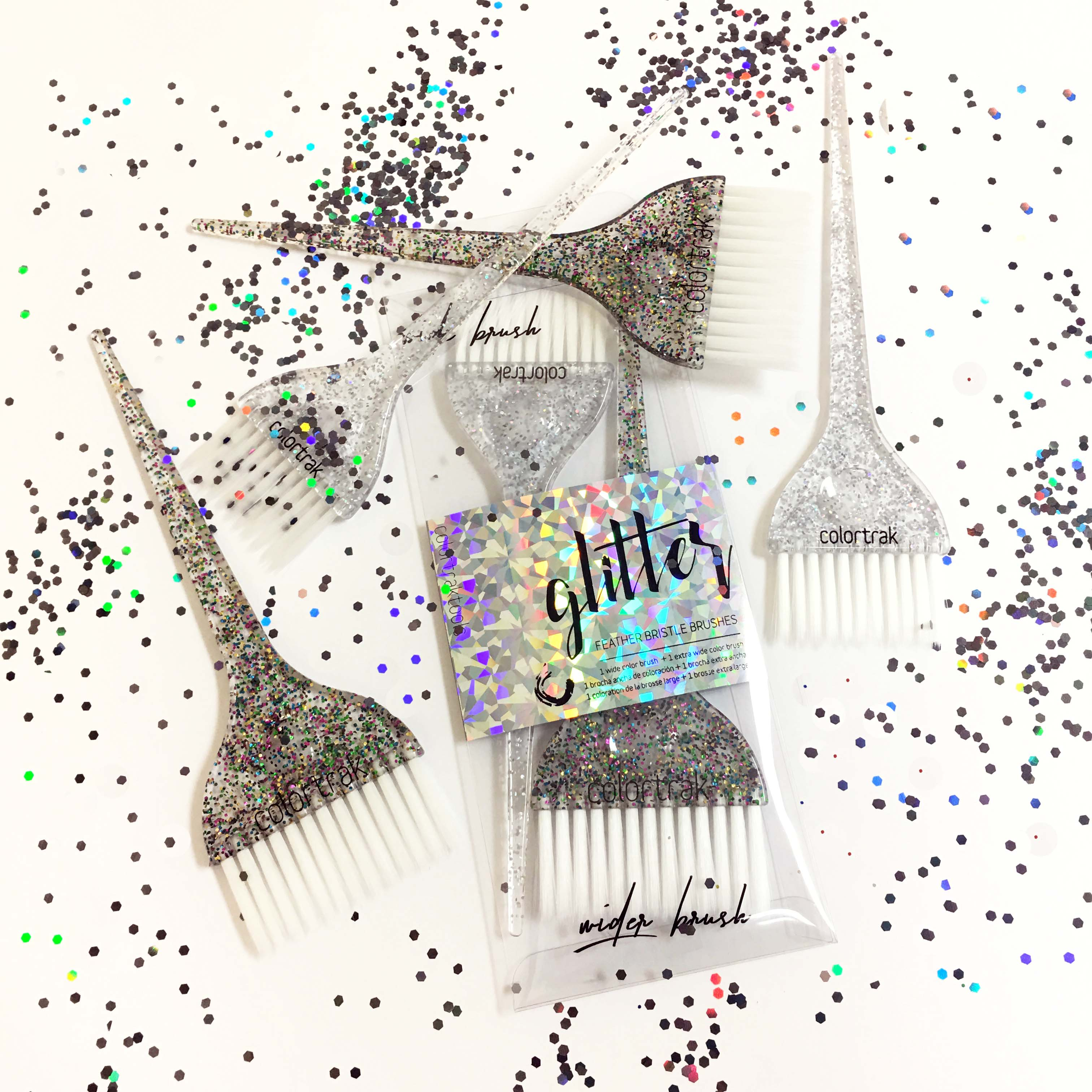 Glitter on With Colortrak's Glitter Brushes