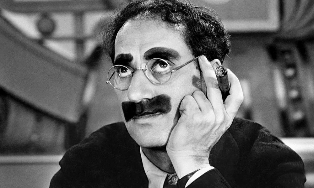 Groucho Marx wore a fake moustache of greasepaint for years and eventually grew one in real life.