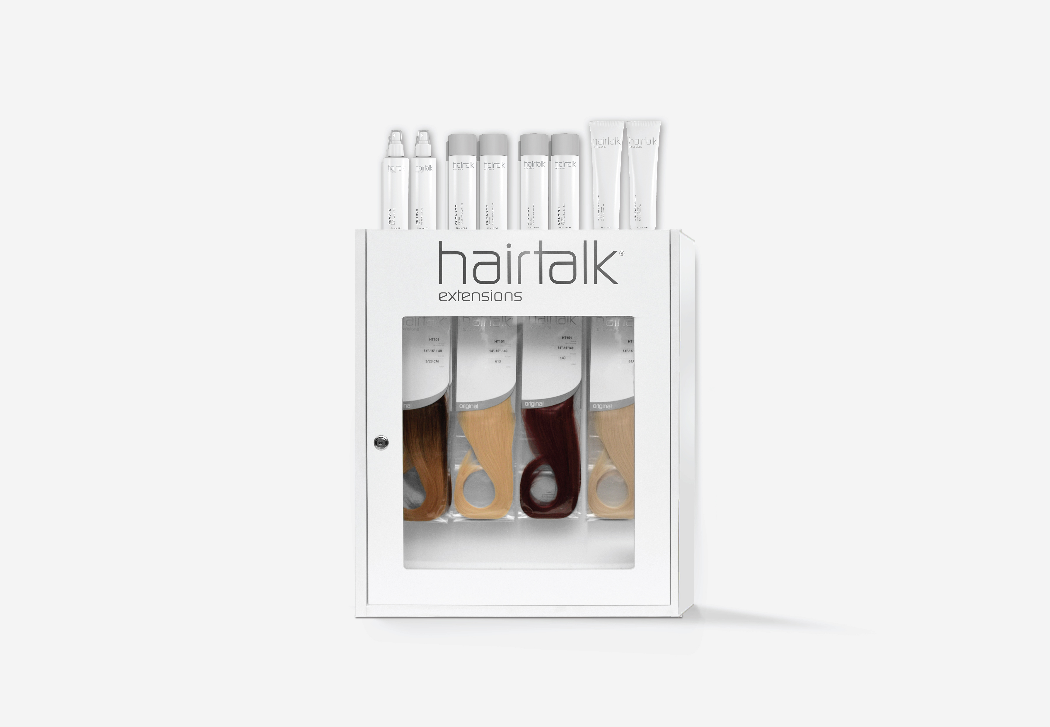 Hairtalk's Countertop/Wall Mount Extension Stocking Cabinet