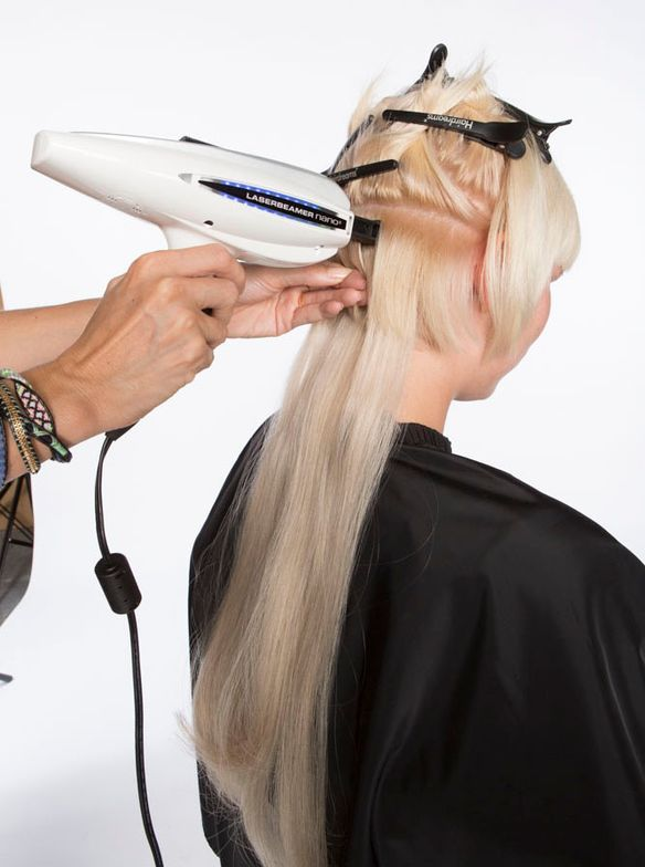 New Laserbeamer Nano system automatically bonds up to 5 hair strands in 45 seconds with a push of a button.