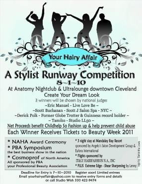 Hairstylist competition at PBA