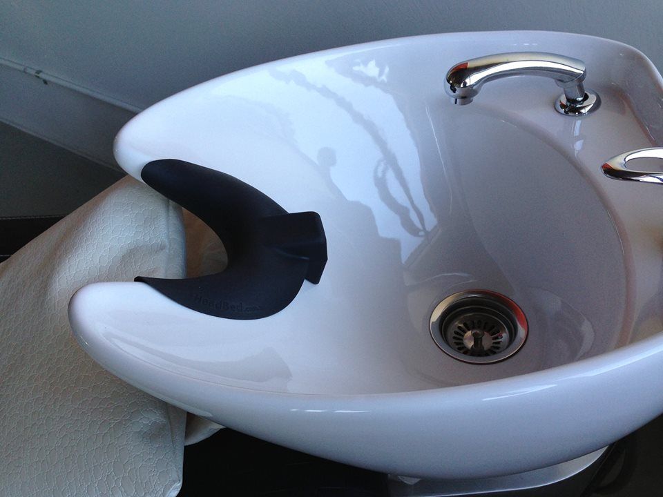 New HeadBed Product Fits on Salon Sinks to Provide Comfort and is Designed to Prevent Stroke