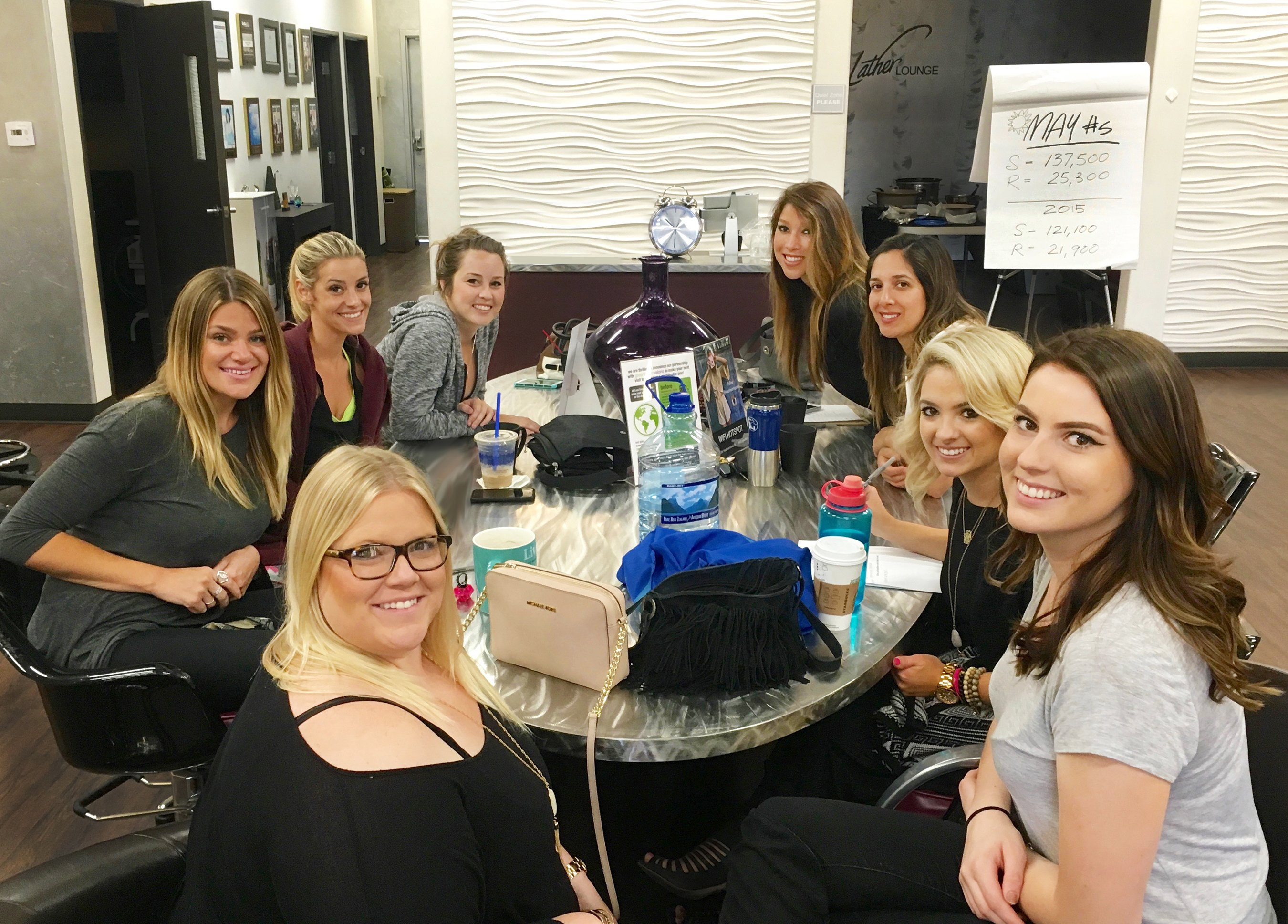 At Headlines The Salon, Culture Guardians meet with their assigned team members regularly to encourage each other on their goals and work on ideas to improve the salon's culture.