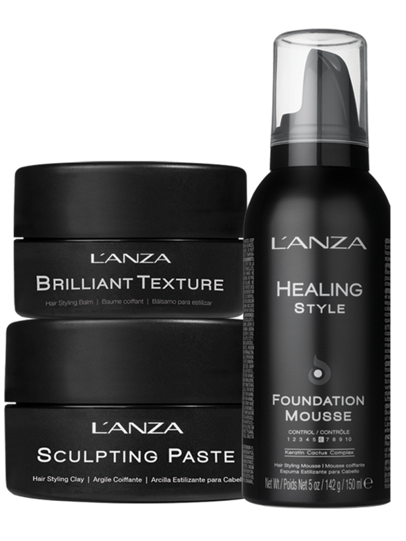 In January '17, L'ANZA introduced three new products in their Healing Style line: Foundation Mousse, Sculpting Paste and Brilliant Texture.