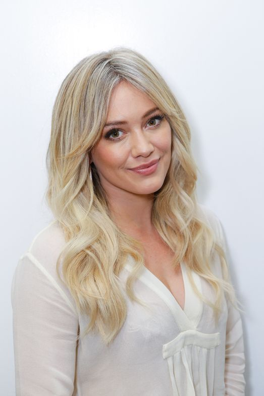 Hilary Duff's new icy blonde color.