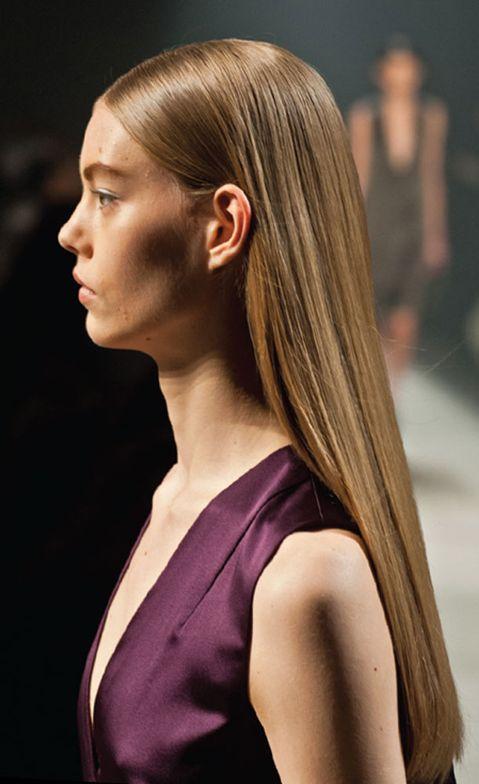 Hair by Paul Hanlon for Farouk and Narciso Rodriguez at NYC Fashion Week.