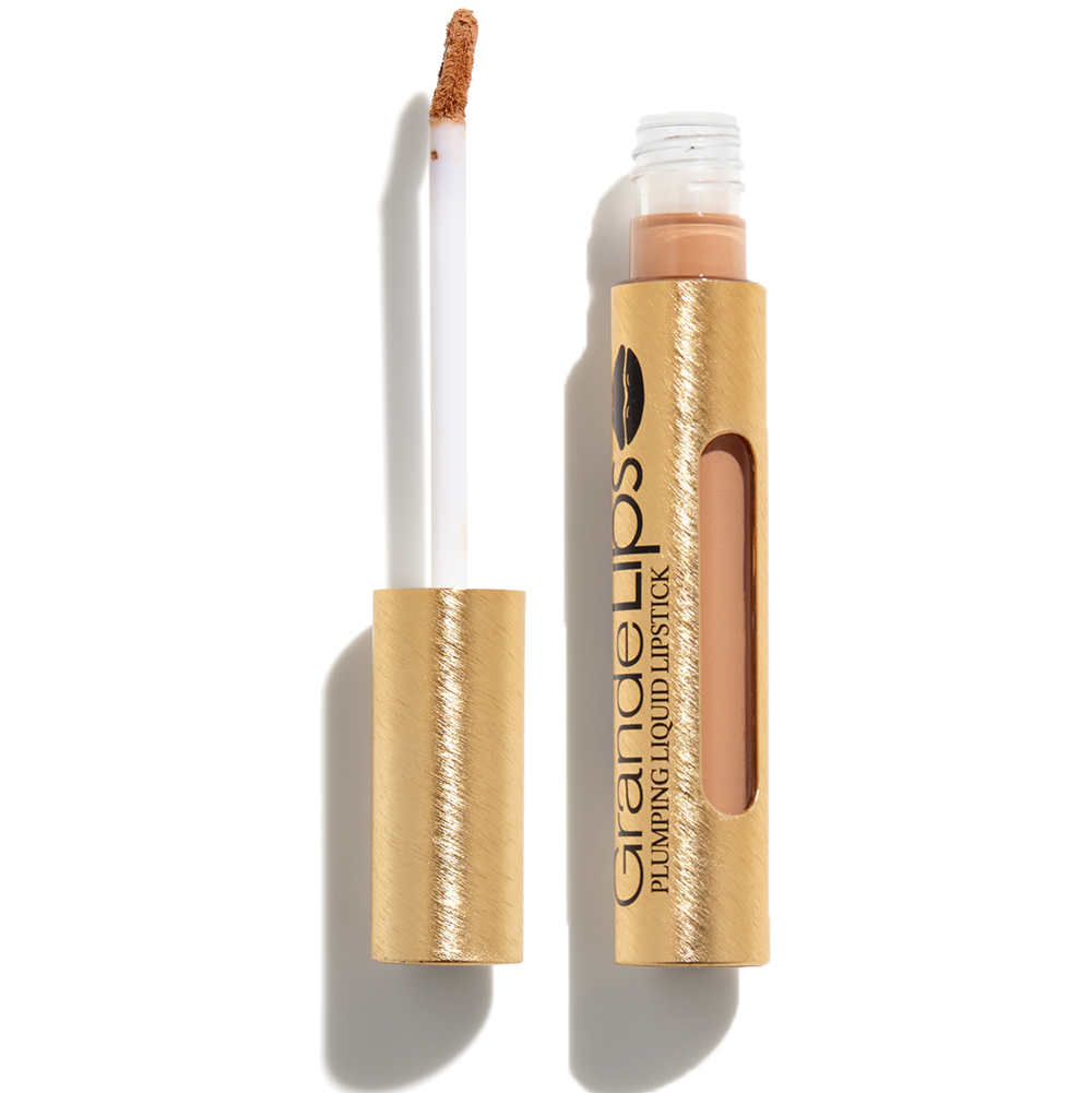 Nude lips pair perfectly with a bold eye.