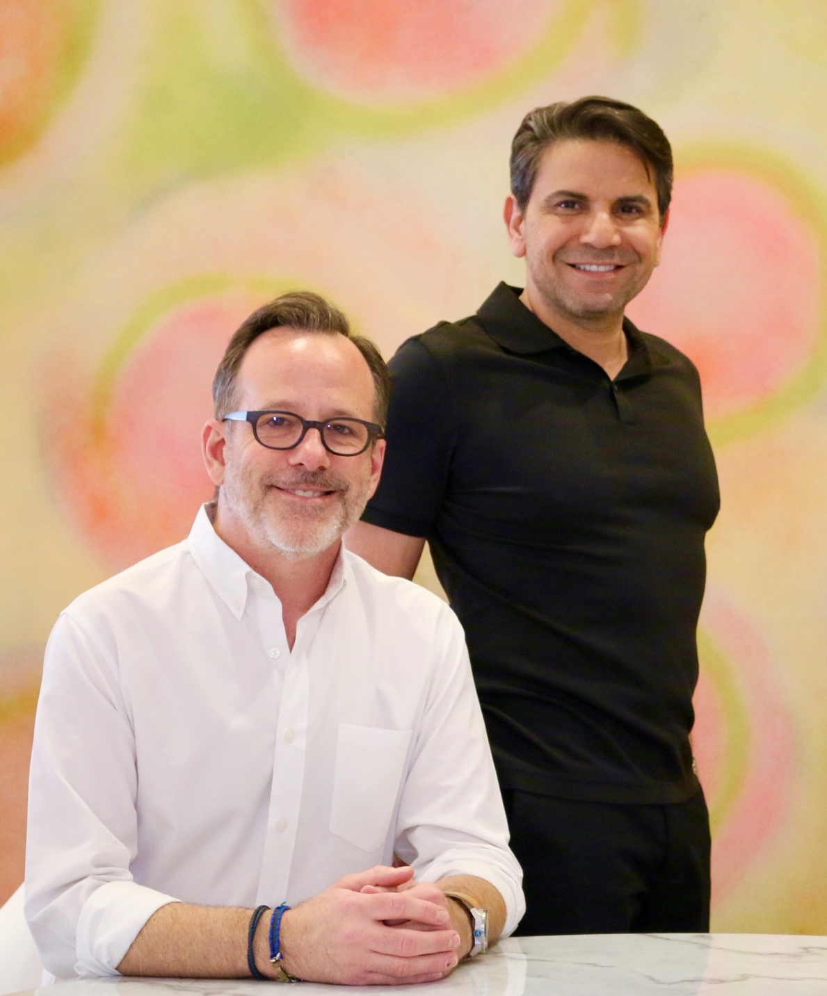 Alan Conover and Cion Ortego, owners of Hue Salon in Houston, Texas.