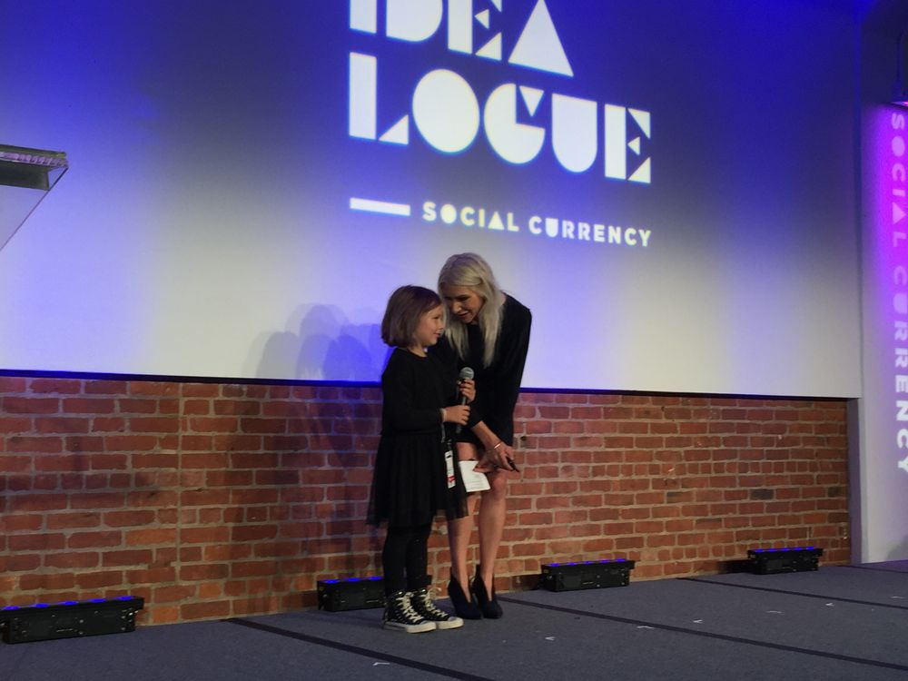 Jenny Strebe (@theconfessionsofahairstylist) welcomes daughter Magnolia (@confessionsofaminihairstylist) to close a powerful talk on her climb