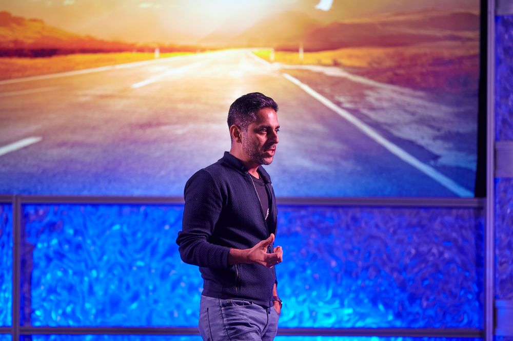Vishen Lakhiani, founder and CEO of Mindvalley, onstage at VisionQuest.