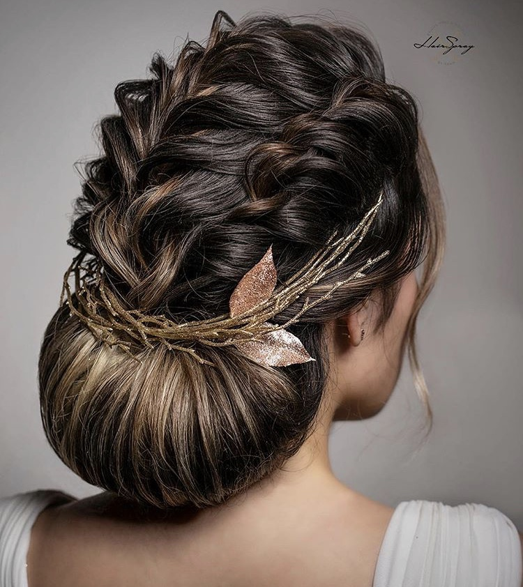 """""""<span title=""""Edited"""">Can't have a holiday party without a chignon.""""</span>"""