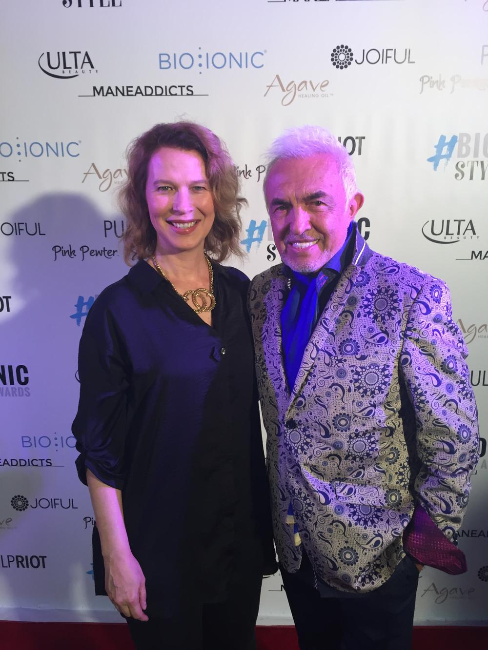 MODERN SALON's Anne Moratto and Bio Ionic Founder Fernando Romero