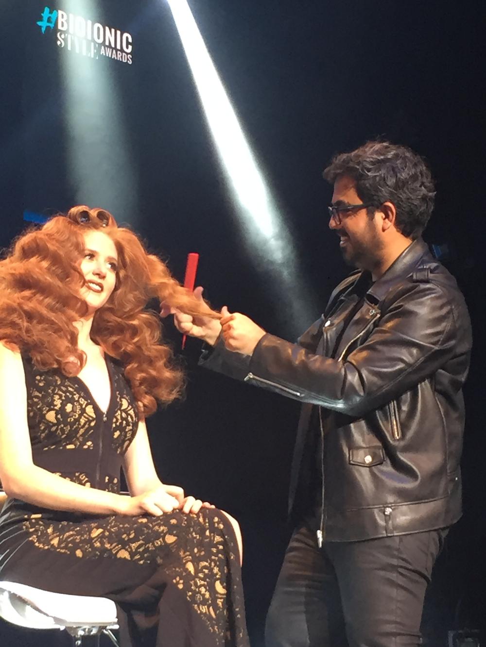 Mustafa Avci at work onstage