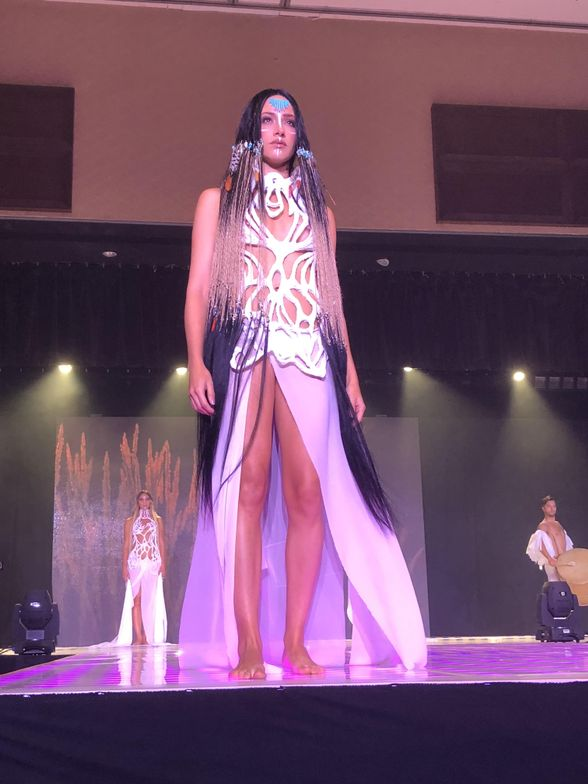 """""""Dreamcatcher"""" look as part of Ammon Carver's segment of the B.I.G. Show."""