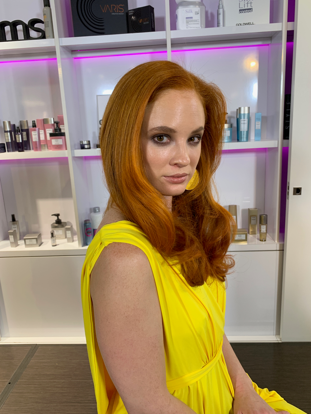 Hair color by Steven Picciano, using Goldwell.